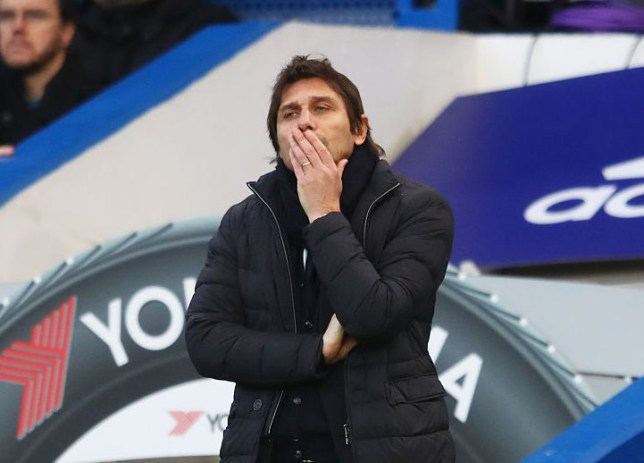 LONDON, ENGLAND - JANUARY 28: Antonio Conte, Manager of Chelsea looks on during the Emirates FA Cup Fourth Round match between Chelsea and Brentford at Stamford Bridge on January 28, 2017 in London, England. (Photo by Clive Mason/Getty Images)