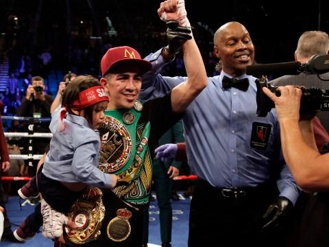 Leo Santa Cruz calls for third Carl Frampton fight after regaining title in Las Vegas