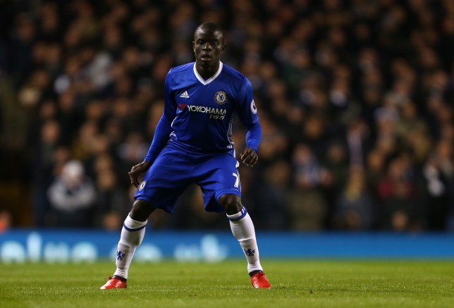 LONDON, ENGLAND - JANUARY 04: N'golo Kante of Chelsea during the Premier League match between Tottenham Hotspur and Chelsea at White Hart Lane on January 4, 2017 in London, England. (Photo by Catherine Ivill - AMA/Getty Images)