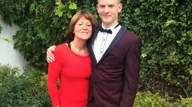 Elliot Stapleton-Giddins, 18, pictured with his mother, Tracy, Picture: INS)