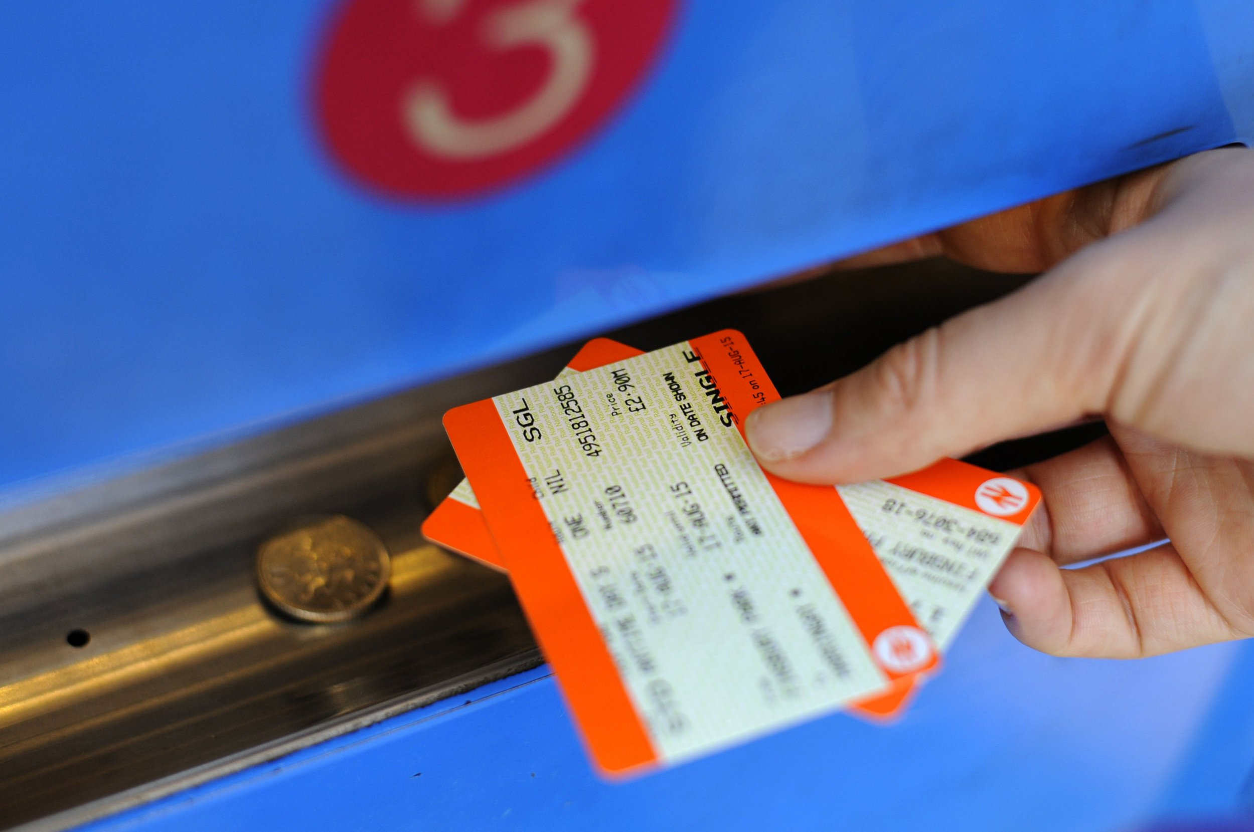 """File photo dated 17/08/15 of a person buying a train ticket, as the annual rise in rail fares has been described by public transport campaigners as """"another kick in the teeth"""" for passengers. PRESS ASSOCIATION Photo. Issue date: Monday January 2, 2017. The average increase across Britain of 2.3% came into force on Monday morning, although the figure varies between operators, with fares on Virgin Trains East Coast services up by 4.9%. See PA story RAIL Fares. Photo credit should read: Lauren Hurley/PA Wire"""