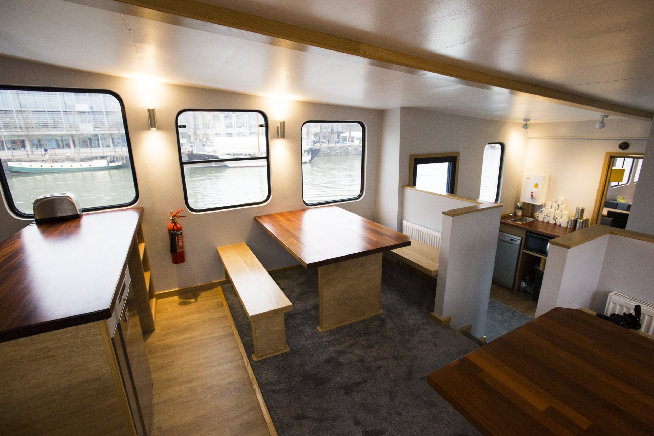 You can now stay in a floating hostel in Bristol
