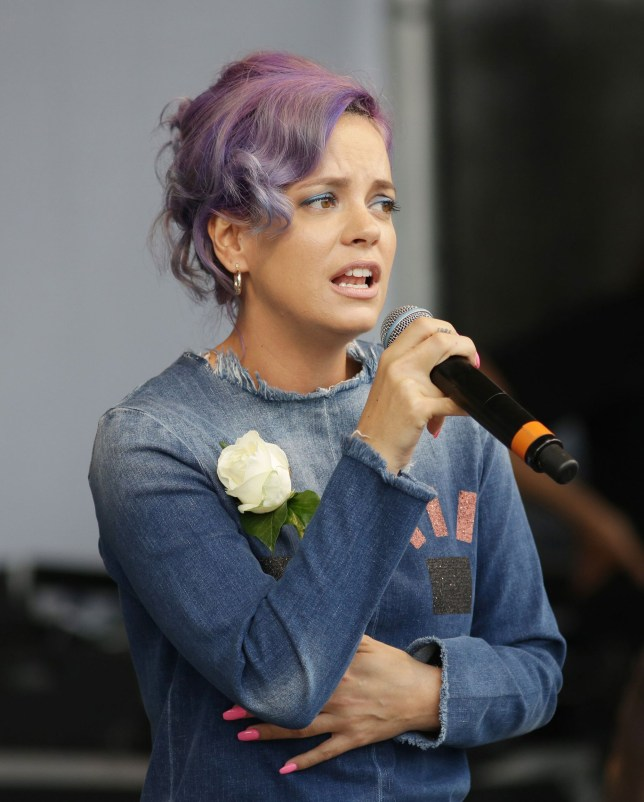 """File photo dated 22/6/2016 of Lily Allen who claimed she had """"only ever been sexually assaulted by white males"""" during a Twitter row with English Defence League co-founder Tommy Robinson over migrants. PRESS ASSOCIATION Photo. Issue date: Tuesday January 3, 2017. Allen and Robinson exchanged barbs online after she criticised the use of the word """"migrant"""" in an article about the Turkish nightclub attack, which she said was """"racism"""". See PA story SHOWBIZ Allen. Photo credit should read: Daniel Leal-Olivas/PA Wire"""