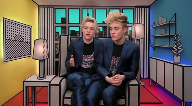 Editorial Use Only Mandatory Credit: Photo by REX/Shutterstock (7747346aw) Jedward in the diary room 'Celebrity Big Brother' TV show, Elstree Studios, Hertfordshire, UK - 08 Jan 2017