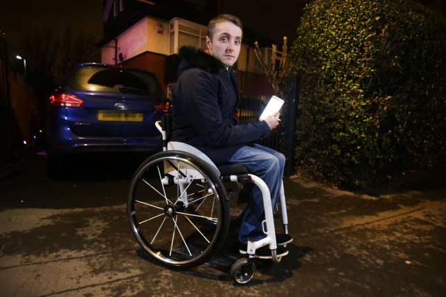 Picture: Lorne Campbell / Guzelian Joshua Gardner (20) of Leeds, West Yorkshire, who was told by a UBER taxi driver that disabled people need disable cars., before leaving him at the side of the road, outside his home (pictured). WORDS BY GUZELIAN PICTURE TAKEN ON TUESDAY 10 JANUARY 2017 A wheelchair user from West Yorkshire has spoken of his disgust at being left at the side of the road after an Uber driver refused to take him. Joshua Gardner, from Leeds, is a regularly user of Uber and sometimes even has three rides a day. He was on his way to meet friends at the pub to watch Cambridge against Leeds United on Monday (9 JANUARY) when an Uber driver refused to take him. According to Mr Gardner, the man told him ìDisabled people need disable carî before driving off. ìOrdering a taxi when you have a lightweight foldable wheelchair is plain and simple,î said Mr Gardner, a 20-year-old freelance journalist.