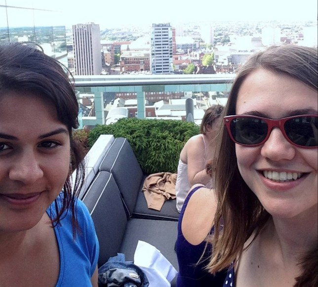 Dated: 13/01/2017 Friends Lucy Walker, 27, from Newcastle, and Zara Quli, from Birmingham, who travelled over 4,500 miles for a get-together when they discovered it was cheaper to fly to Malaga than travel via rail between Newcastle and Birmingham. Picture shows Lucy (right) together in Birmingham last year. See story North News