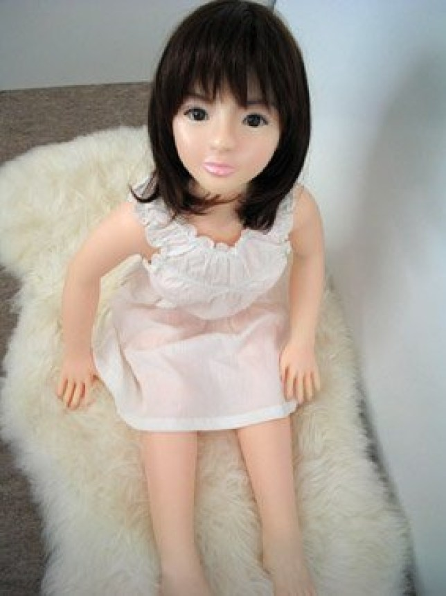 A picture of a sex robot from the dark web