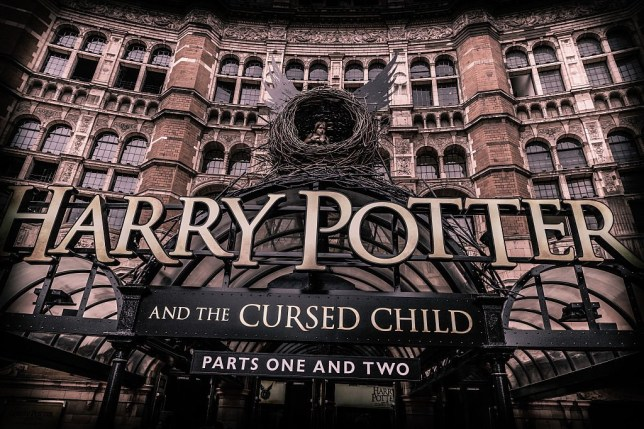 """LONDON, ENGLAND - JULY 30: (EDITORS NOTE: Image was altered with digital filters.) A general view of """"Harry Potter & The Cursed Child"""" at Palace Theatre on July 30, 2016 in London, England. (Photo by Luca Teuchmann/WireImage)"""