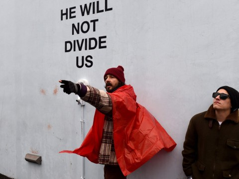 Shia LaBeouf charged with assault during his anti-Trump He Will Not Divide Us protest