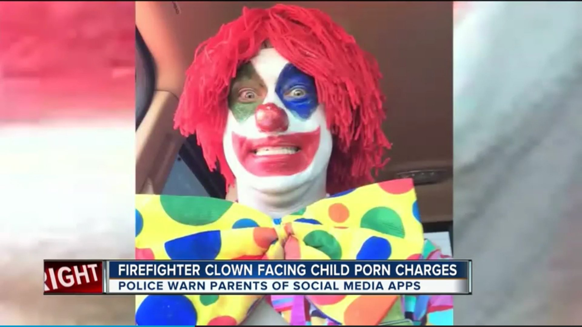 """nfrom Chris Murphy 01634 686 515nA firefighter CLOWN who taught kids fire safety has been arrested for allegedly sending images of child porn to a woman, and maybe having SEX WITH A DOG.nPolice in Oklahoma say this is a serious case.nTulsa World reports the fire officer worked for the service in the town of Muskogee.nZackery Blaine Perry also dressed up as a clown to become a member of the popular Muskogee Fire Department Clown Society clown.nTulsa World says they have reports he resigned from his position with the department on January 11.nIt said he is now facing a string of horrific charges, including that he had sex with or facilitated sex with a canine.nProsecutors charged the 30-year-old Muskogee County District Court with aggravated possession of child pornography; publishing, distributing or participating in obscene material; child sexual exploitation; and crimes against nature.nIt is claimed his world collapsed when he apparently sent sick images of child abuse to a woman he met online. She then called police.nTulsa World said according to a probable cause affidavit, his mobile is said to have contained ¿1,378 images and videos relating or depicting child pornography¿.nIt goes on to claim: """"Additionally, there were photos, videos and texts discovered that the suspect Zack Perry had been involved in or facilitated the recordings of sexual acts between an adult female and a dog¿.nA woman contacted the Muskogee County Sheriff¿s Office on January 5, when Perry allegedly asked her on social platform KIK for photographs of her child, who is just eight.nPerry was arrested that day on allegations he had sent messages and videos of child pornography.nHis fire department boss Lincoln Anderson told KFOR: """"He had things that nobody should have - children, is the bottom line.""""nHe is scheduled to reappear in court February 2 for what is called a sounding docket, where a judge and legal teams consider whether to continue to trial and if so, when.nendsn"""