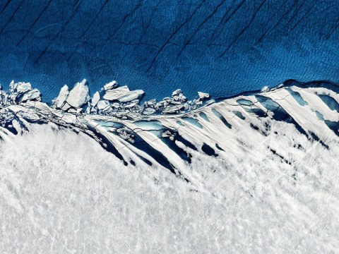Powerful images show impact of global warming on Greenland's ice sheet