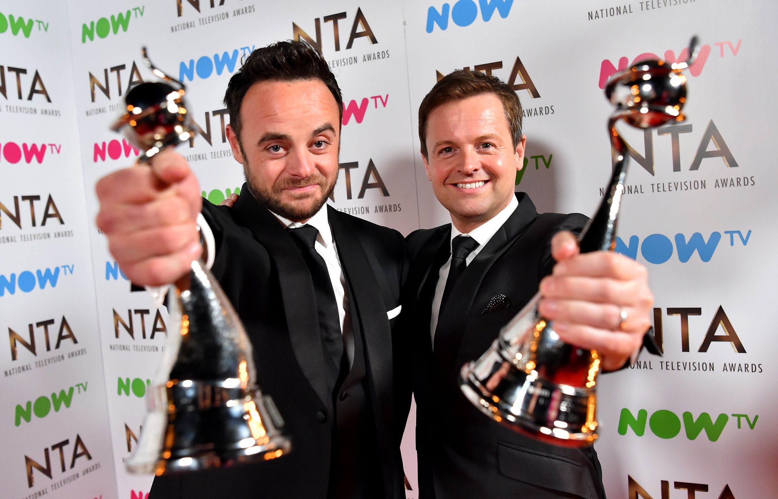Ant and Dec win Best TV Presenters at the National Television Awards AGAIN