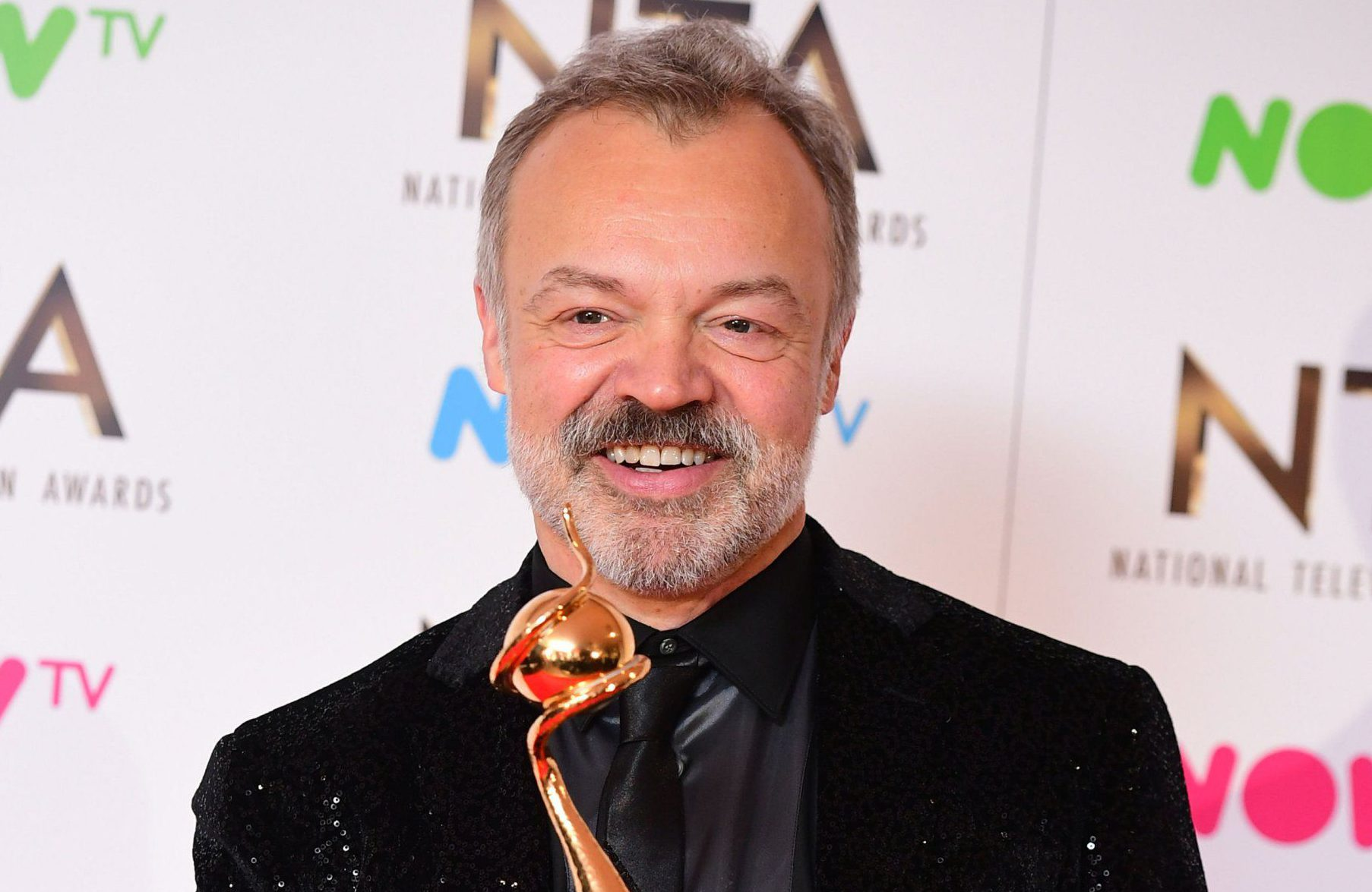Graham Norton in the press room with the Special Recognition Award at the National Television Awards 2017, held at The O2 Arena, London. PRESS ASSOCIATION Photo. Picture date: 25th January, 2017. See PA Story SHOWBIZ NTAs. Photo credit should read: Ian West/PA Wire
