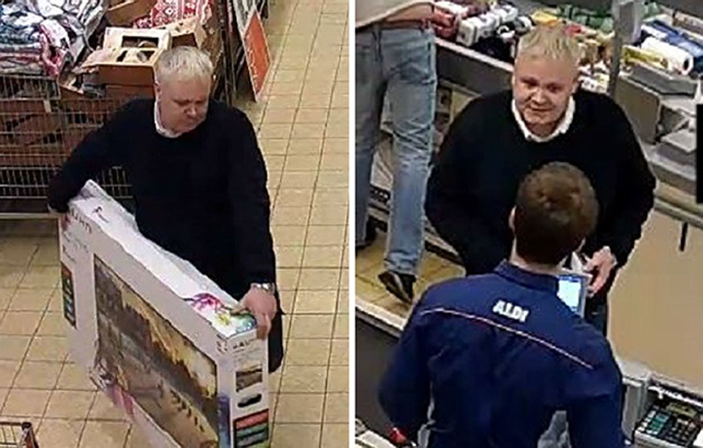 Cocky thief gets £330 'refund' for TV he picks off shop floor and takes to cashier