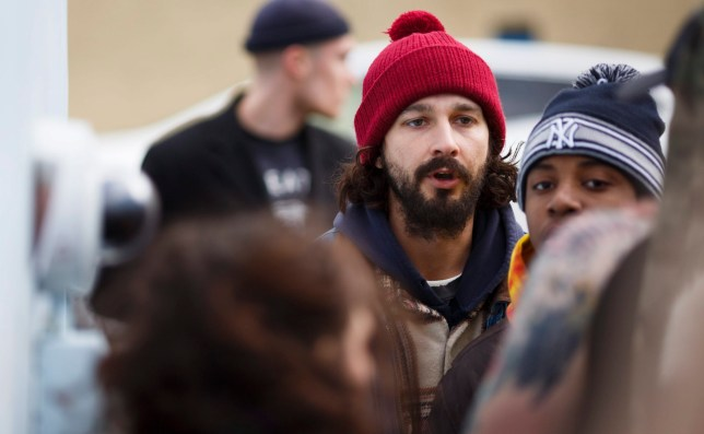 Shia LaBeouf's anti-Trump art project has been closed down in New York (Picture: EPA)