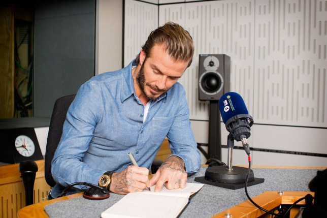For use in UK, Ireland or Benelux countries only Undated BBC handout photo of David Beckham as he joins Desert Island Discs for the programme's 75th anniversary edition on Sunday 29th January at 11.15am on BBC Radio 4. PRESS ASSOCIATION Photo. Issue date: Sunday January 29, 2017. See PA story SHOWBIZ Discs. Photo credit should read: Sophie Mutevelian/BBC/PA Wire NOTE TO EDITORS: Not for use more than 21 days after issue. You may use this picture without charge only for the purpose of publicising or reporting on current BBC programming, personnel or other BBC output or activity within 21 days of issue. Any use after that time MUST be cleared through BBC Picture Publicity. Please credit the image to the BBC and any named photographer or independent programme maker, as described in the caption.