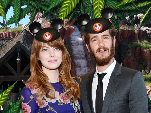 Andrew Garfield and Emma Stone rode Disneyland's Space Mountain while stoned on brownies