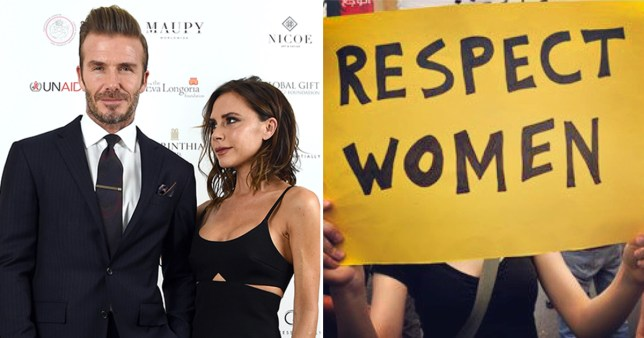 The Beckhams have joined celebrities around the world in supporting the Women's March (Picture: Getty/Instagram)