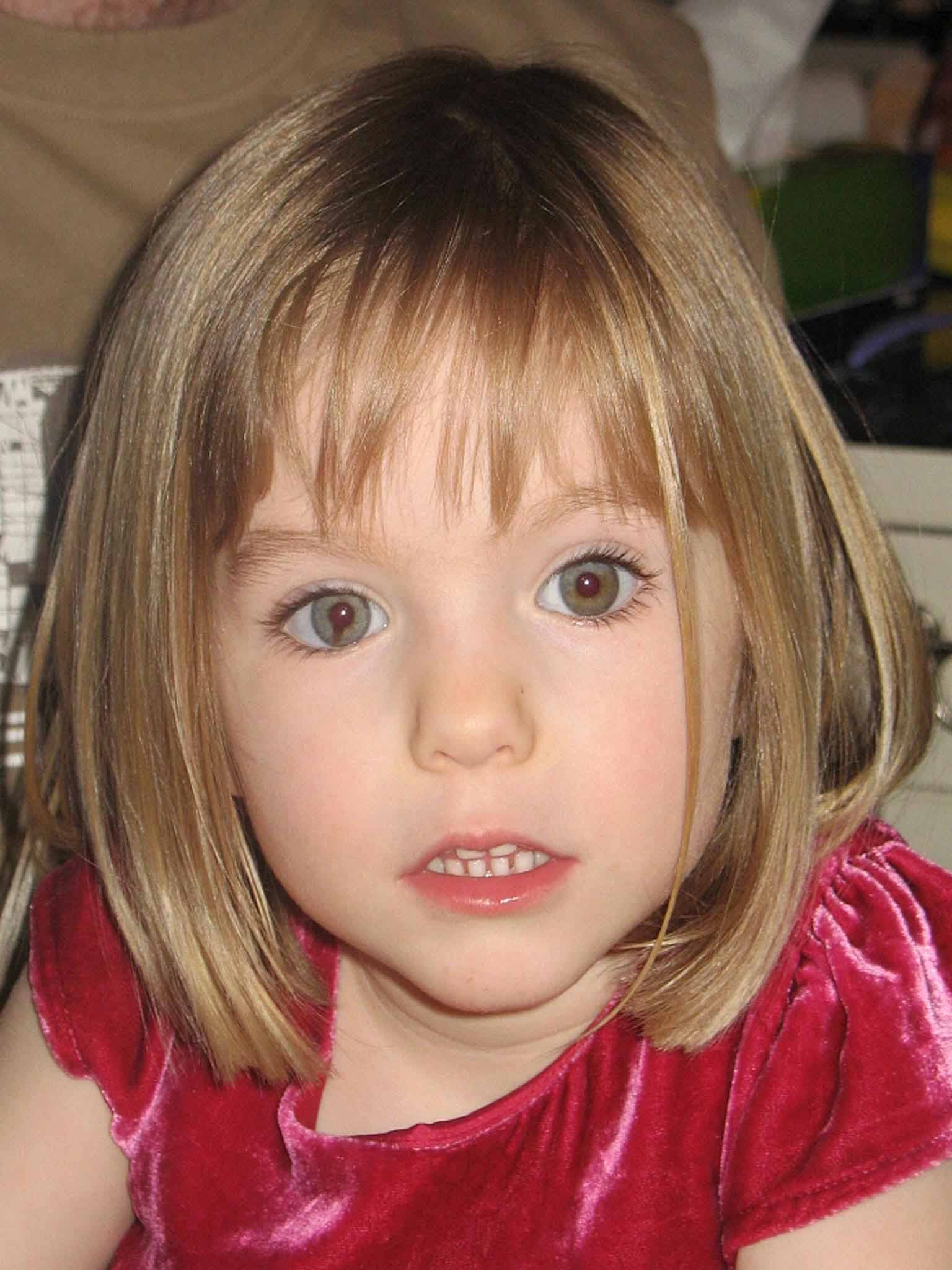 "Undated handout photo of missing girl Madeleine McCann whose parents, Kate and Gerry, are widely expected to be formally cleared by the Portuguese authorities of involvement in their daughter's disappearance tomorrow. PRESS ASSOCIATION Photo. Issue date: Sunday July 20 2008. Portugal's attorney-general, Fernando Jose Pinto Monteiro, has promised to announce a ""solution"" to a case that has gripped the world since the young girl vanished on May 3 last year. See PA story POLICE Portugal. Photo credit should read: Steve Parsons/PA Wire"