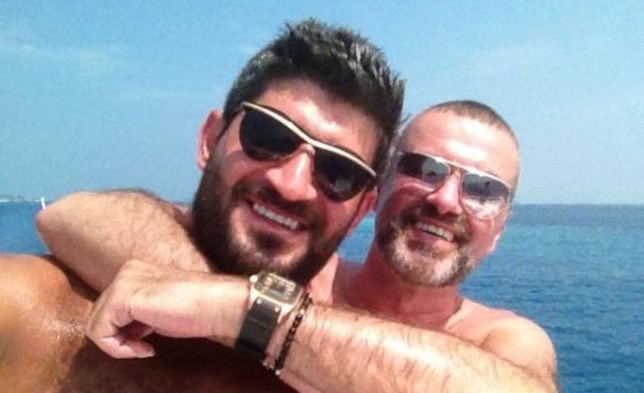 George Michael shows off his tan on a sunshine break. The pic of the 48-year-old, who is bouncing back from pneumonia, was tweeted by new man Fadi Fawaz (left), 38, who asked: 'Isn't he the cutest?. @GeorgeMichael isn't he the cutest? ;) pic.twitter.com/rzxw71lF Worldwide - 05.02.12 Supplied by WENN.com (WENN does not claim any Copyright or License in the attached material. Any downloading fees charged by WENN are for WENN's services only, and do not, nor are they intended to, convey to the user any ownership of Copyright or License in the material. By publishing this material, the user expressly agrees to indemnify and to hold WENN harmless from any claims, demands, or causes of action arising out of or connected in any way with user's publication of the material.)