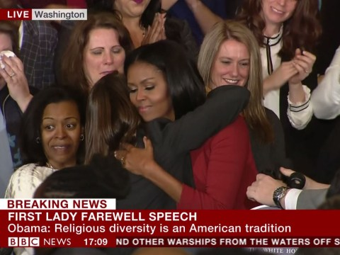 Michelle Obama makes final White House speech as First Lady