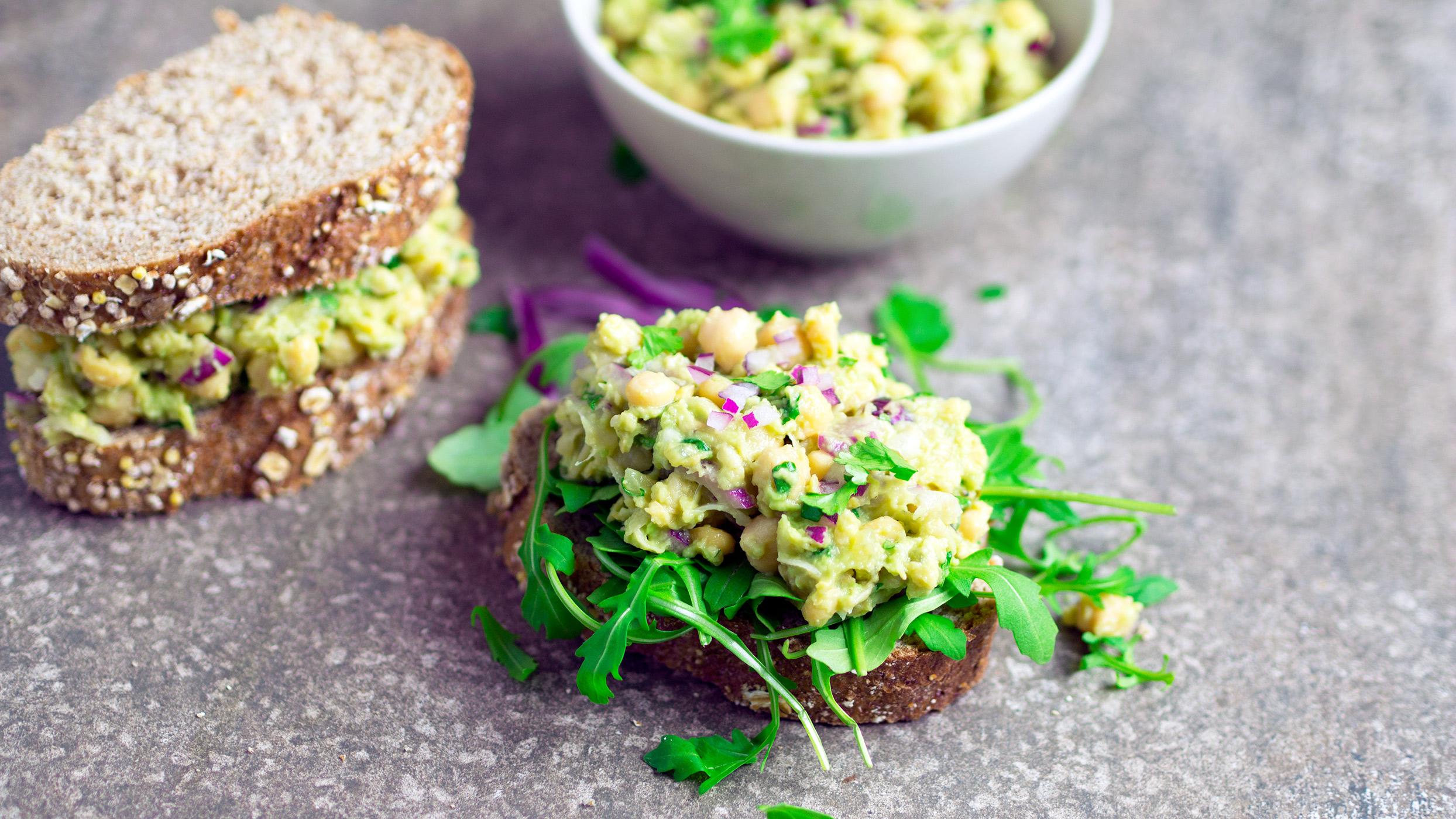 Vegan recipe video: Here's how to make chickpea avocado sandwiches