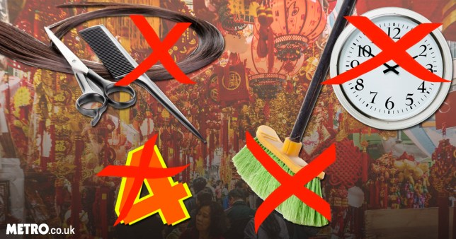 things you should never do on Chinese New Year eg give your Chinese friends clocks