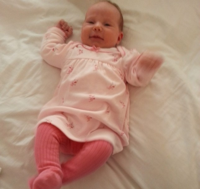 Print Before OnLine COLLECT image of Grace Roseman, daughter of Esther and Gideon Roseman, who died aged 7 weeks old in April 2015. Grace chocked on the side of a Bednest crib.