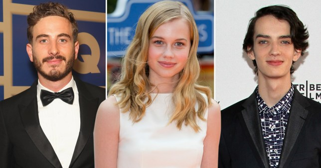 Ryan Corr, Angourie Rice and Kodi Smit-McPhee (L-R) are among the latest crop of emerging Australian acting talent (Picture: Getty)
