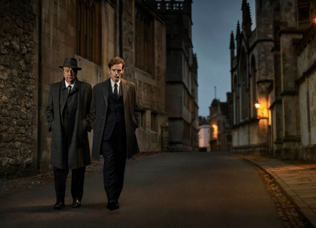 SHAUN EVANS as Endeavour and ROGER ALLAM as DI Thursday