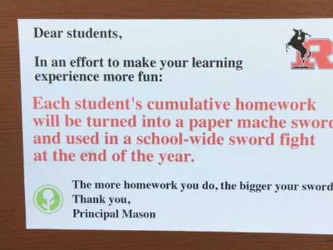 Prankster leaves hilariously fake letters to students all around local middle school