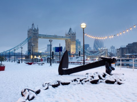 London to be hit by snow tomorrow morning