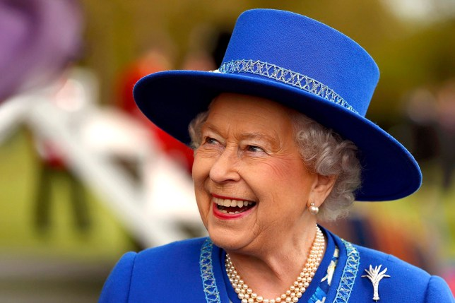 LONDON, ENGLAND - APRIL 30: Queen Elizabeth II reacts after presenting New Colours to the 1st Battalion Welsh Guards at Windsor Castle on April 30, 2015 in London, United Kingdom. (Cathal McNaughton - Pool /Getty Images)