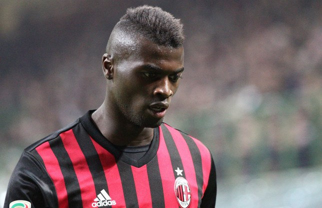 Milan forward M'Baye Niang (11) during the Serie A football match n.9 MILAN - JUVENTUS on 22/10/2016 at the Stadio Giuseppe Meazza in Milan, Italy. (Photo by Matteo Bottanelli/NurPhoto via Getty Images)