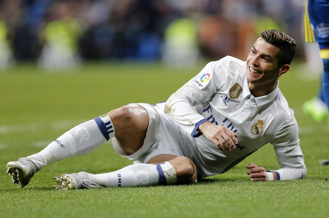 MADRID, SPAIN - JANUARY 18: Cristiano Ronaldo of Real Madrid reacts during the Copa del Rey quarter-final first leg match between Real Madrid CF and Celta de Vigo at Estadio Santiago Bernabeu on January 18, 2017 in Madrid, Spain. (Photo by Angel Martinez/Real Madrid via Getty Images)