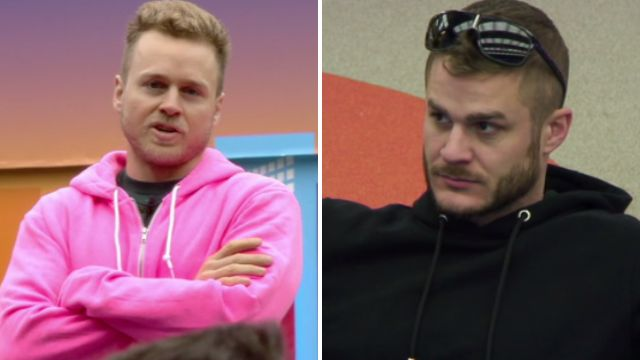Celebrity Big Brother contestants Spencer Pratt and Austin Armacost fight over a DOOR