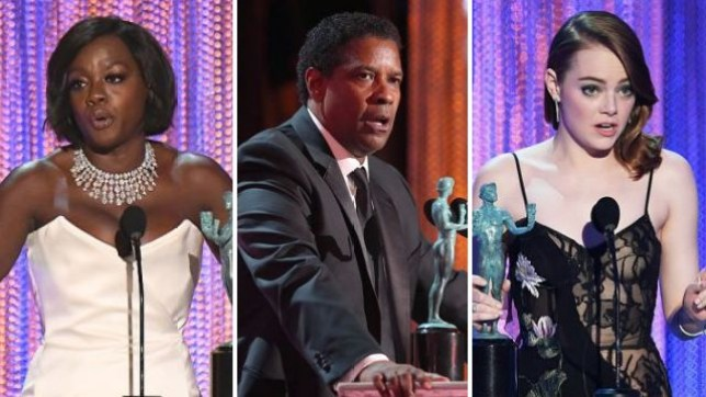 Viola Davis, Denzel Washington and Emma Stone all took him SAG Awards on Sunday night