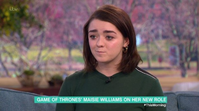 Maisie Williams appeared on ITV's This Morning to discuss Game Of Thrones (Picture: ITV)