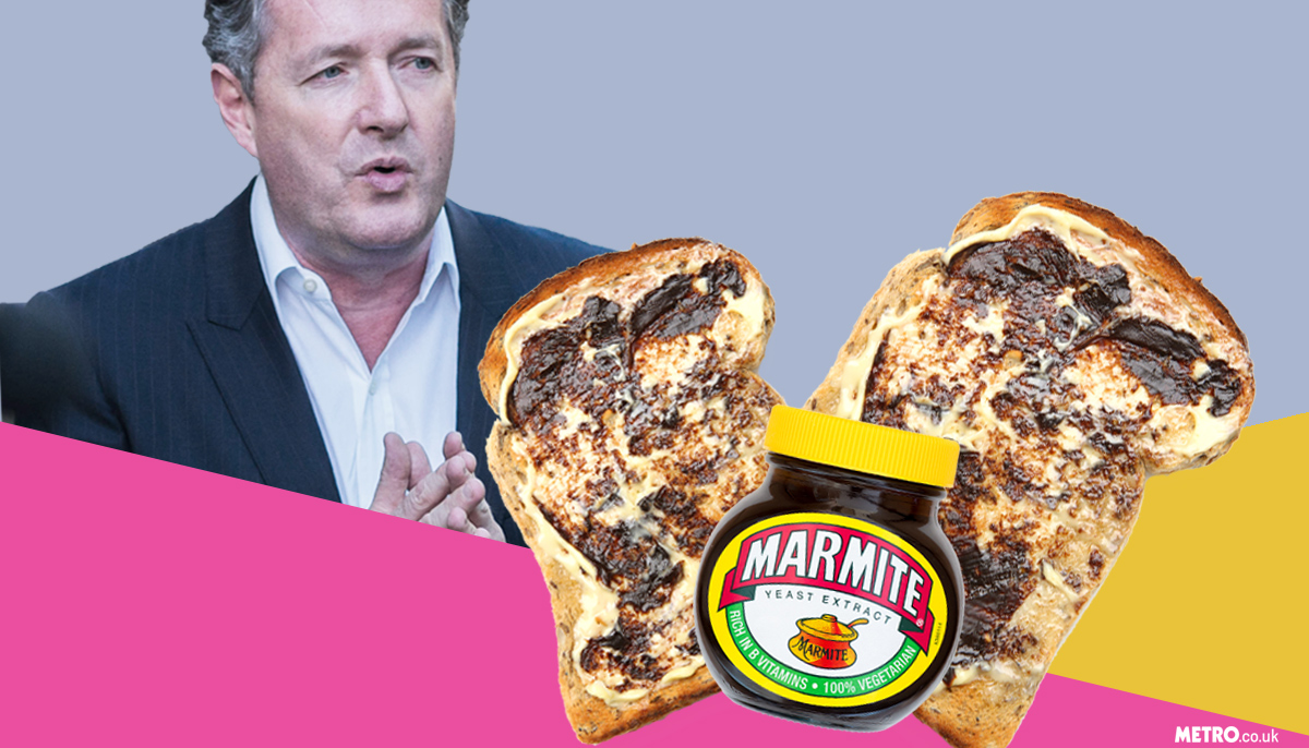 Piers caught eating marmite on toast! credit getty/shutterstock/metro