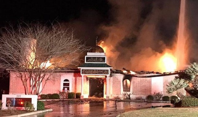 Mosque burned to the ground hours after Donald Trump signs immigration order