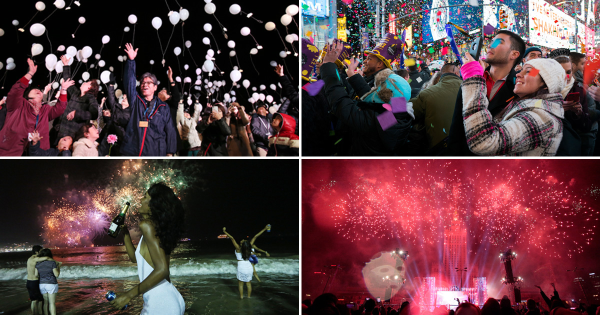 The world joins together to celebrate the New Year – and it looks spectacular