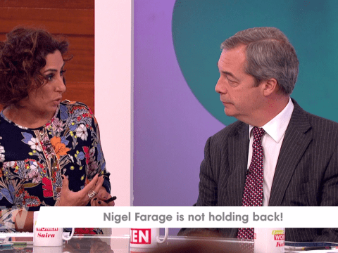 Loose Women viewers are angry Saira Khan wouldn't let Nigel Farage speak