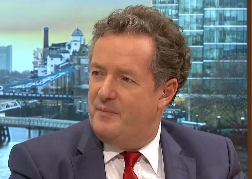 Piers hit out at celebs this morning (Picture: ITV)