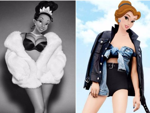 This illustrator makes hybrids of fashion models and Disney princesses for some reason