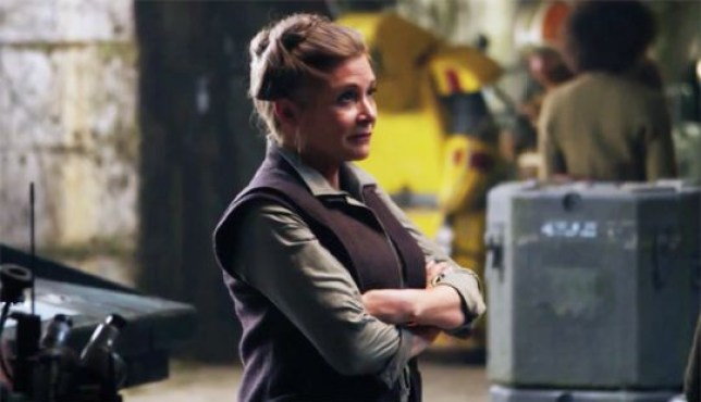 Carrie Fisher reprised her role as Leia in The Force Awakens (Picture: Lucasfilm/Disney)