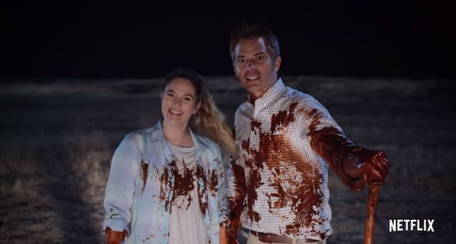 Santa Clarita Diet sees Drew Barrymore take a fancy to human-flesh (Picture: Netflix/YouTube)