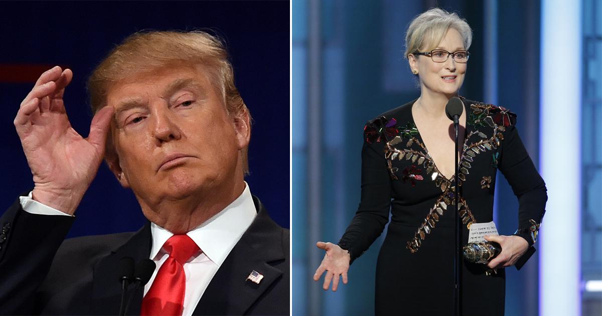Donald Trump hits back at 'Hillary lover' Meryl Streep over Golden Globes speech