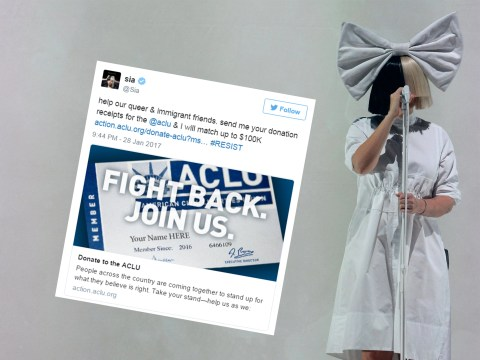 Sia and Judd Apatow lead celebs offering to match donations to ACLU following Trump's Muslim ban