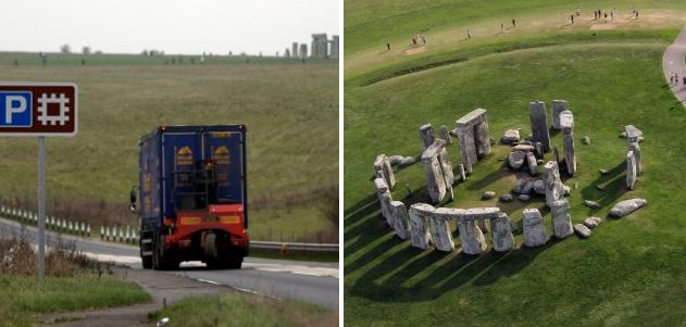 A road is being built under Stonehenge