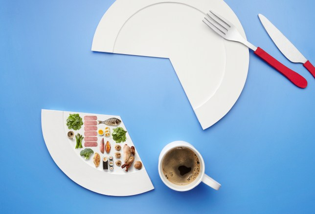 To illustrate fasting by eating at certain hours. Shows all the foods you could eat in 1 day.